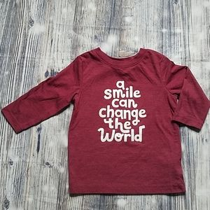 18M Burgundy Color Long Sleeve